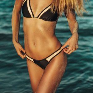 Strappy Push Up Mesh Bikini B